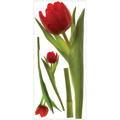 Room Mates 3-Piece Tulip Peel and Stick Wall Decal
