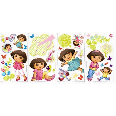 Room Mates Favorite Characters 28 Piece Nickelodeon Dora the Explorer Wall Decal Set