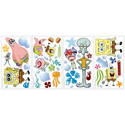 Room Mates Favorite Characters 30 Piece Nickelodeon SpongeBob SquarePants Wall Decal Set