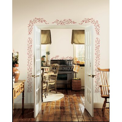 Room Mates Berry Vine Peel and Stick Wall Decals