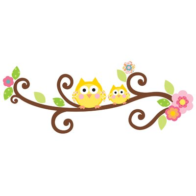 Room Mates Peel & Stick Giant Happi Scroll Tree Letter Branch Wall Decal