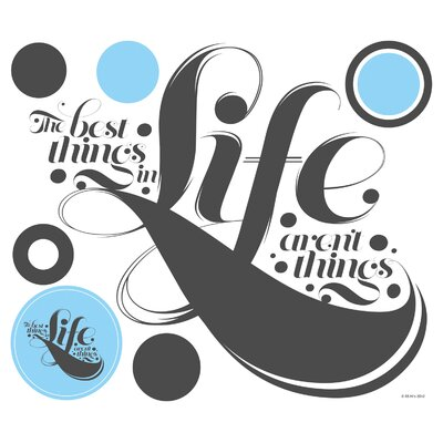 Room Mates Peel & Stick Giant 55 Hi's The Best Things in Life Wall Decal