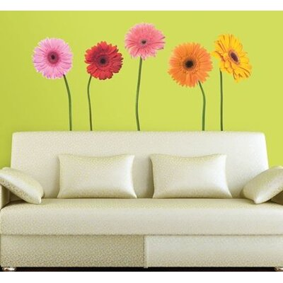 Room Mates Gerber Daisies Peel and Stick Wall Decal