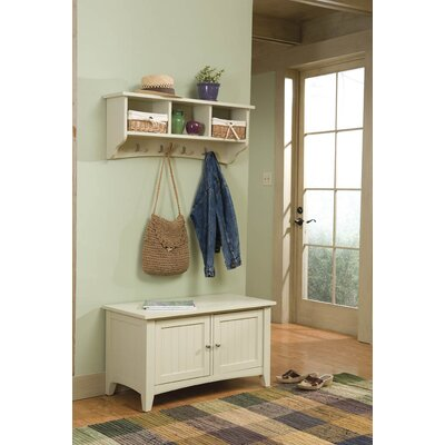 Entryway Storage With Coat Hooks - Kitchen Layout and Decorating Ideas
