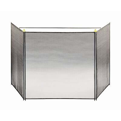 3 Panel Steel Fireplace Screen