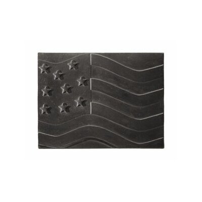 Minuteman International American Flag Cast Iron Fire Back