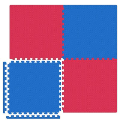 Alessco Inc. Economy SoftFloors Set in Red / Royal Blue