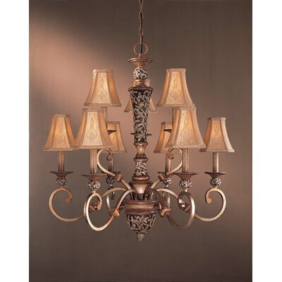 Minka Lavery Salon Grand  Chandelier with Optional Ceiling Medallion