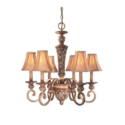 Salon Grand Chandelier with Optional Medallion