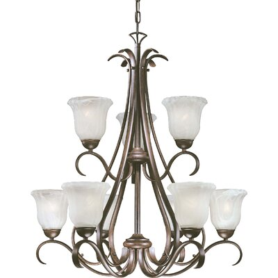 Marche 9 Light Chandelier - Energy Star