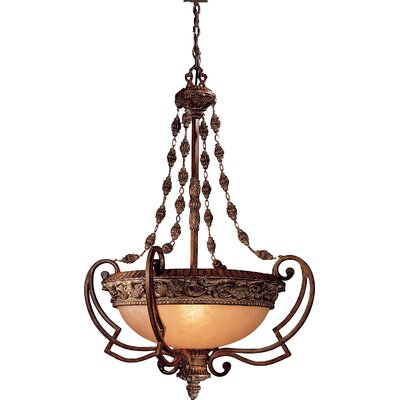 Minka Lavery Belcaro 4 Light Foyer Inverted Pendant