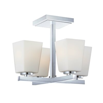 City Square 4 Light Semi-Flush Mount
