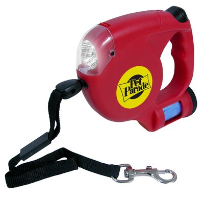 Dog Leash with Flashlight and Bag