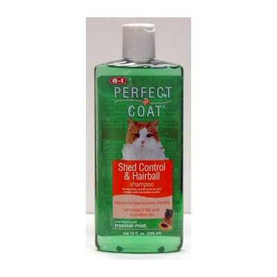 8 in 1 Pet Products Perfect Coat Shed Hairball Control Shampoo for Cats