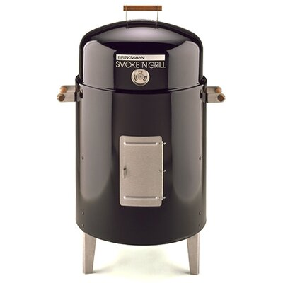 Brinkmann Smoke 'N Grill Charcoal Smoker and Grill with Vinyl Cover