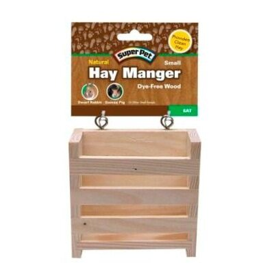 Super Pet Natural Wooden Hay Manger