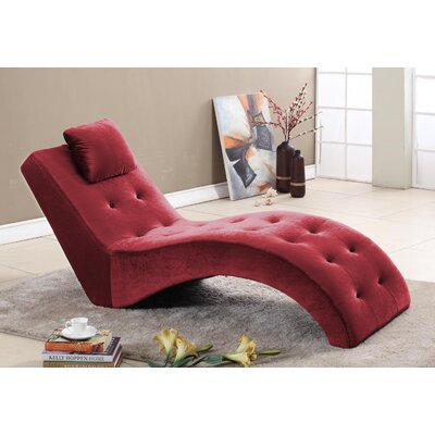 Inroom Designs Velvet Chaise Lounge Amp Reviews Wayfair