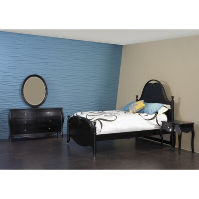 InRoom Designs Jepara Bed in Distressed Black