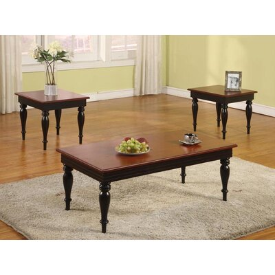 InRoom Designs 3 Piece Coffee Table Set