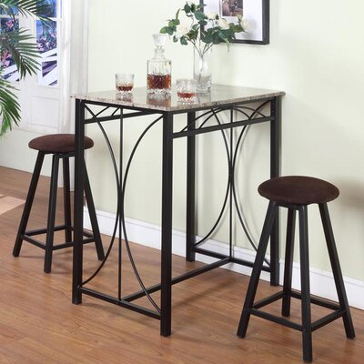InRoom Designs 3 Piece Table Set