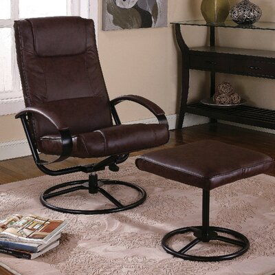 InRoom Designs Reclining Chair and Ottoman | Wayfair