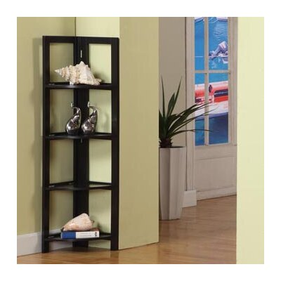 InRoom Designs Four Tier Corner Bookcase