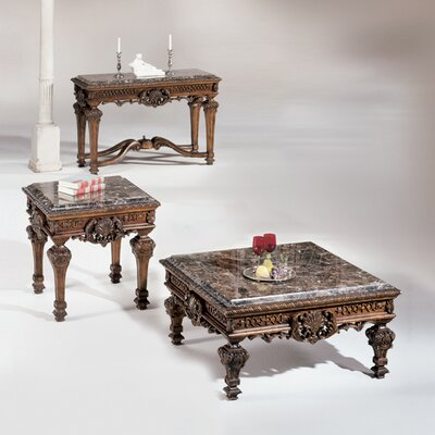 InRoom Designs Inlaid Coffee Table Set