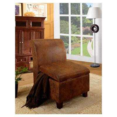 InRoom Designs Accent Storage Slipper Chair
