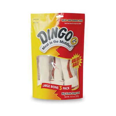 Dingo Pet Products White Bone VP Rawhide Dog Treat