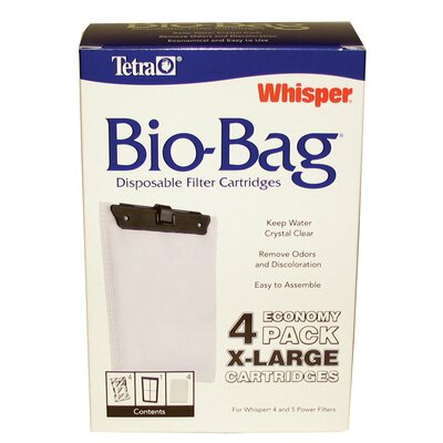 Tetra X-Large Whisper Bio Bag Filter Cartridge - 4 Pack
