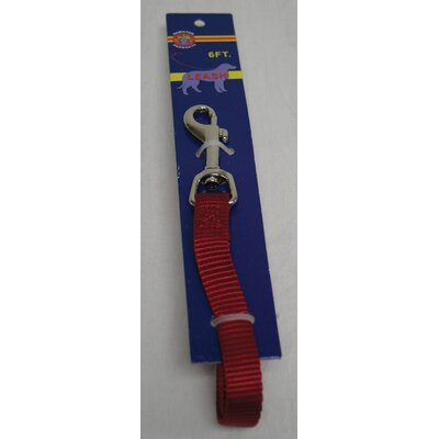 Hamilton Pet Products Lead Single Thick Nylon in Red with Swivel Snap