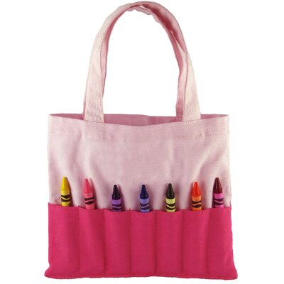Princess Linens Doodlebugz Crayola Crayon Purse in Hot Pink / Light Pink