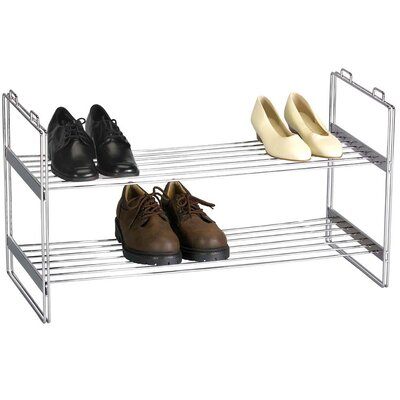 Household Essentials Storage and Organization 2 Tier Shoe Rack ...