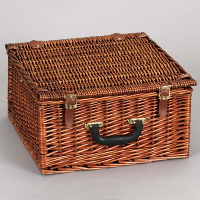 Household Essentials Willow Hand Woven Picnic Basket