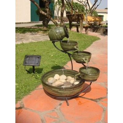 Smart Solar Solar Water Features Ceramic Fountain