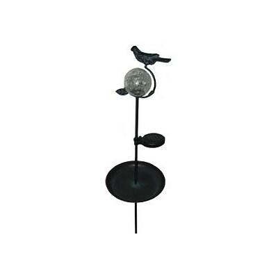 Smart Solar Aquarius Birdbath Solar Stake with Glass Orb
