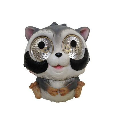 Garden Pals Solar Raccoon Light Statue (Set of 2)