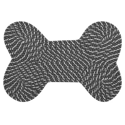 International Textile Manufacturing Dog Bone Black Rug