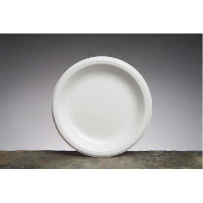 "Genpak 8.88"" Elite Laminated Foam Round Plates in White"