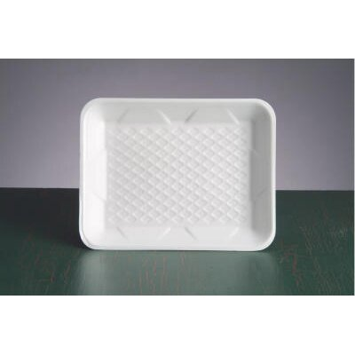 "Genpak 9.25"" Foam Supermarket Tray in White"