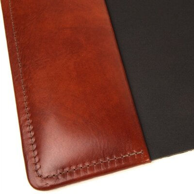 Bosca Old Leather Home Desk Pad in Cognac