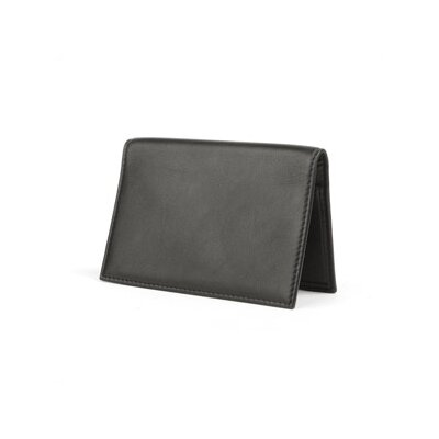 Bosca Nappa Vitello Calling Card Case in Black