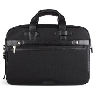 Bosca Tribeca Stringer Leather Laptop Briefcase