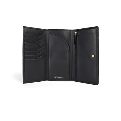 Bosca Nappa Vitello 8 Pocket Vertical Wallet