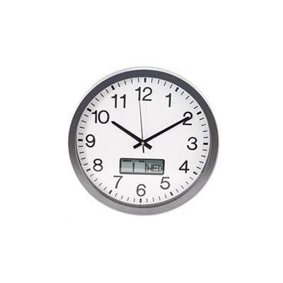 Universal Wall Clock with LCD Inset