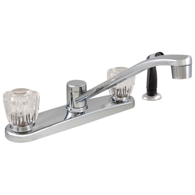 Double Acrylic Handle Kitchen Faucet