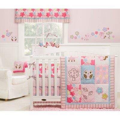 Girl Woodland 4 Piece Crib Bedding Collection