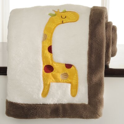 Jungle Friends Embroidered Boa Blanket