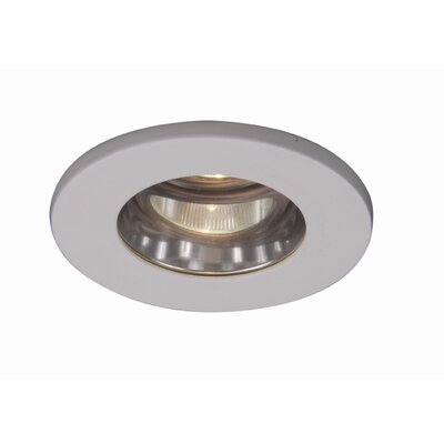 WAC Lighting Low Voltage Flat Glass Shower Light in White