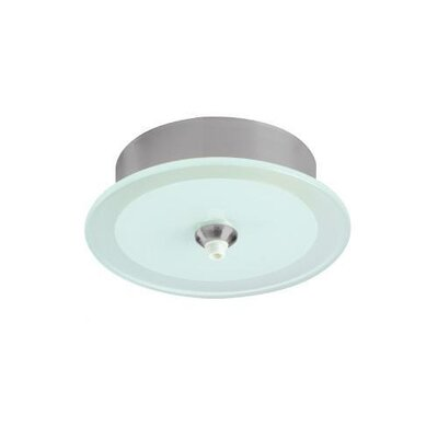 WAC Lighting Quick Connect Round Glass Monopoint Canopy with Transformer in Brushed Nickel